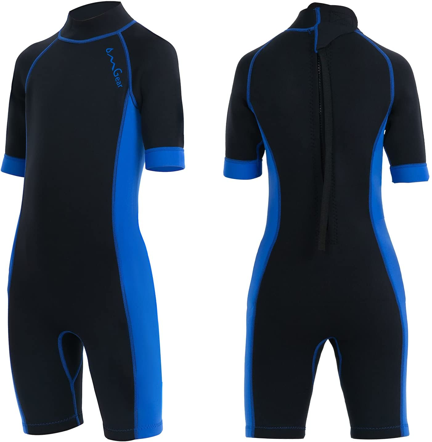 OMGear Colorado Springs Mall Wetsuit Kids Cheap super special price 2mm 3mm Shorty Piece Slee one Neoprene Short