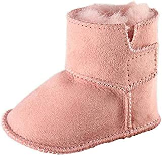 Bebila Genuine Sheepskin Baby Snow Boots Warm Winter First Walker Toddler Shoes for Boys and Girls