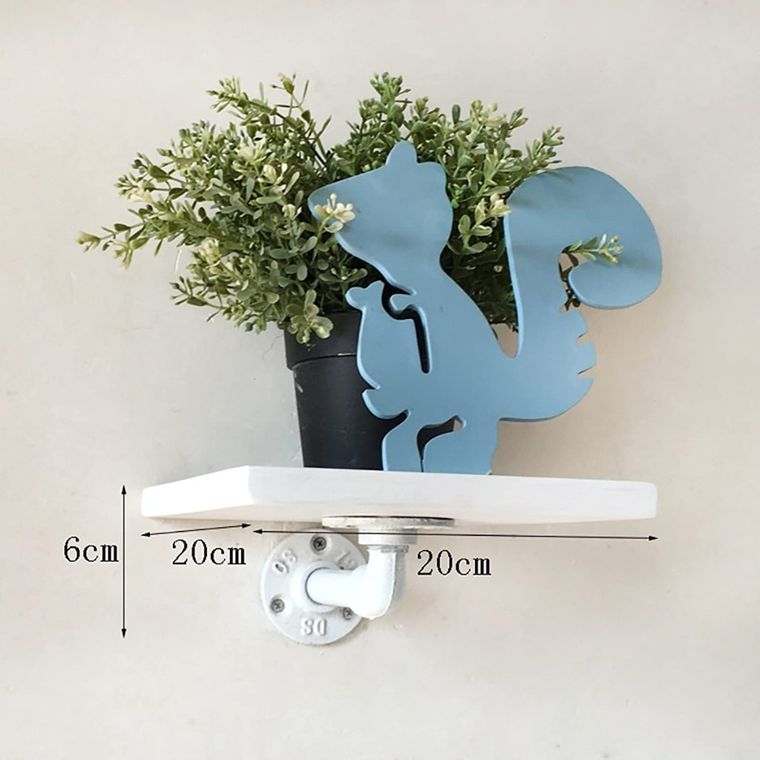 Decorative Accessories Wall Mounted Shelves LOFT Retro Iron Water Pipe Bookshelves Potted Display Stand Living Room Background Wall Decoration Shelves Floating Shelves (color   C20206CM)