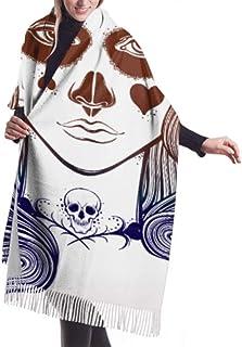 "27""x77 gran chal abrigo hermosa chica pintura al óleo moda bufandas ligeras para niñas bufanda chal abrigo elegante manta ..."