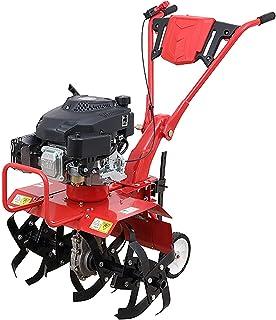 QILIN 4 Cycle Mini Cultivator, Petrol Tiller, 6.5 Horsepower Four-stroke Engine, Tillage Width 50CM, Tillage Depth 30CM, Red