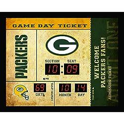Team Sports America Green Bay Packers Bluetooth Scoreboard Wall Clock