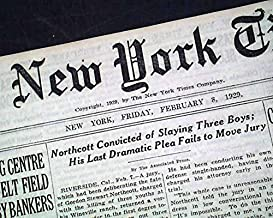 WINEVILLE CHICKEN COOP Murders Changeling Northcott Found GUILTY 1929 Newspaper THE NEW YORK TIMES, February 8, 1929