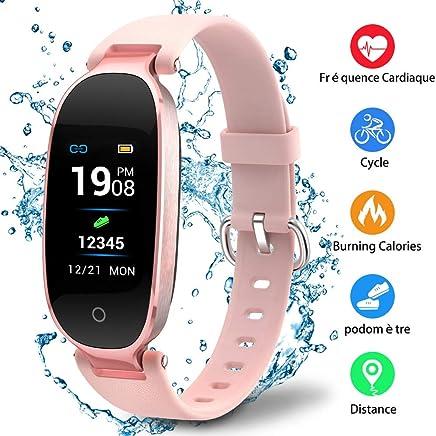 Udenx Montre Connectée Sport Fitness Tracker dActivité Montre Étanche IP67 Bracelet Intelligent Podomètre Calories