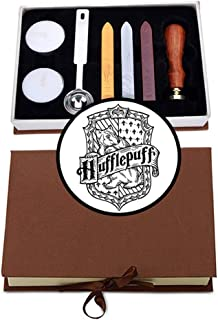 VIYOUNG Hufflepuff Badge Wax Seal Stamp Kit Hogwarts Magic School Creative Mysterious Retro Stamp Maker Kit Great for Gift...