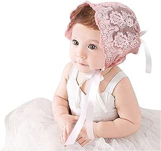 Infant Newborn Baby Girl Princess Bonnet Lace Hat Cotton Beanie Photo Prop