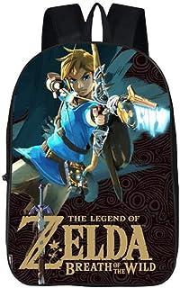 Anime The Legend of Zelda Mochila para niños y niñas, mochila escolar para mujeres y hombres, mochila de viaje para ordenador portátil