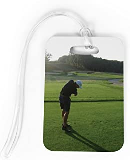 Golf Luggage & Bag Tag | Custom Photo | Standard Lines on Back | MEDIUM