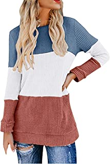 Fashion Women Pullover Sweatshirt Lantern Sleeve Knit Shirts Printed Loose Casual Tunic Top Sweater