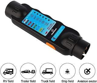 12V 7-Pin Trailer Tester Tool Tester Plug Socket for Caravan, RV, Recreational, Vehicle, Truck, Vehicle, Trailer Towing Tow Bar Light Diagnostic Tool