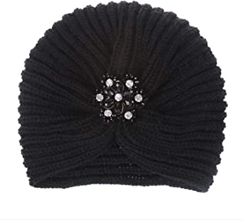 mebake Knitted hat Gorro de Punto de Invierno para Mujer, diseño de Turbante