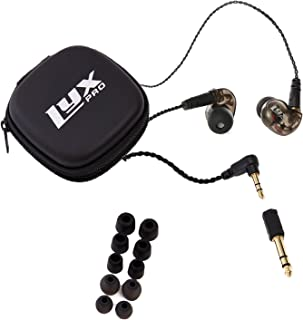 $24 Get LyxPro ERP-10 in-Ear Monitors with Professional, Universal Fit Earphones for Musicians – Detachable Cables, Carrying Case & 6 Pairs of Tips for Studio or Stage