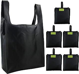 NCONCO 6 bolsas de la compra reutilizables, plegables y lavables.