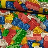 Dekostoff Bausteine bunt Kinderstoff Kinderzimmer -Preis