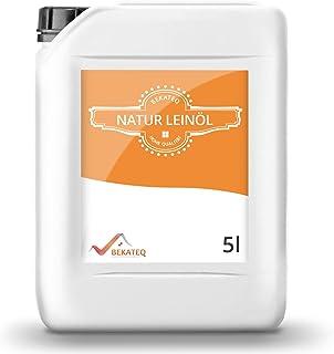 BEKATEQ 5L Natur Leinöl Holzschutz Holzpflegemittel Holzöl Holzpflege Holzschutzöl Pflegeöl