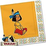 Yakari 20 Servietten Kinderparty und Kindergeburtstag von DH-Konzept // Indianer Indianerjunge Sioux...