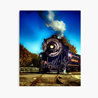 "HongbarShop The Western Maryland 734 (24"" x 36"") Deluxe Portrait Canvas Wall Art Decoration Kitchen Office Decor"