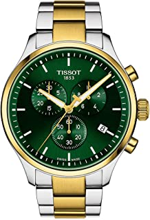 mens Tissot Chrono XL Stainless Steel Casual Watch Grey, Gold T1166172209100