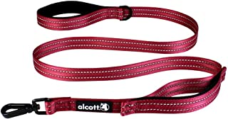 Alcott Traffic Leash with Two Padded Handles for Dogs, One Size, Red (TLSH TF OS RD)