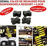 GENIAL ! KIT DE REHAUSSE +4,5 CM SUSPENSION AV OU AR POUR BERLINE BREAK 4X4 CAMPING-CAR CAMION ! MONTAGE ULTRA SIMPLE 1MN ! IDEAL POUR TRACTER REMORQUER CHARGER ! SPECIAL SUSPENSIONS A RESSORTS