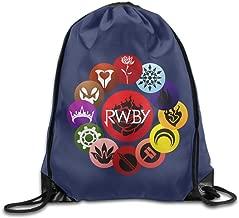 KSWFA RWBY Rose Backpack Gymsack Sport Bag White