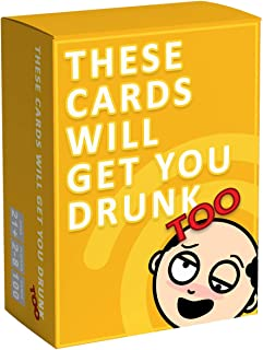 These Cards Will Get You Drunk - Fun Adult Drinking Card Game for Parties (Yellow)