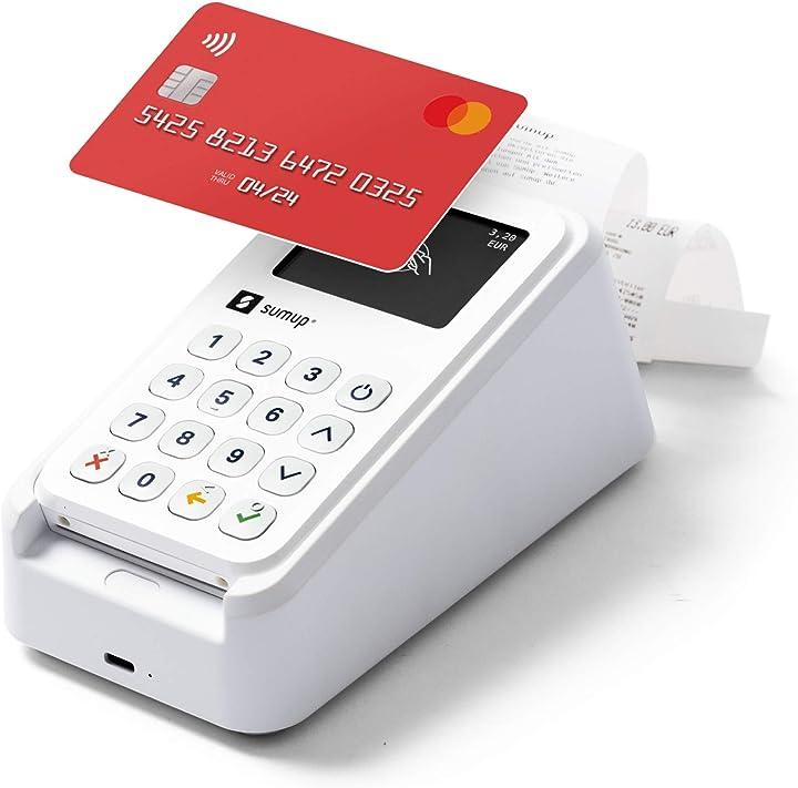 Lettore carte di credito sumup 3g con wi-fi e stampante inclusa base di ricarica sumup 3g / wi-fi + stampante 900605801