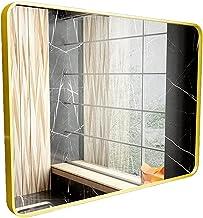 MU Dekoracyjne lustro ścienne prostokątne łazienkowe lusterko do makijażu szkło akrylowe srebrne lustra do salonu sypialni...