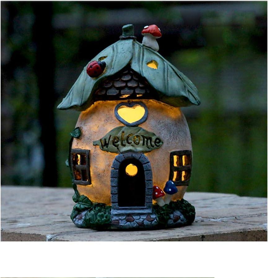 Solar Powered Fairy House LED Outdoor 25% OFF Garden Ornament Light sale Gard