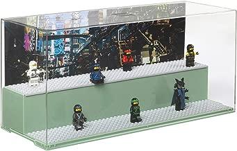 LEGO Play & Display Case Ninja Go Movie Sand Green, 19.2 x 39.8 x 14.9 cm