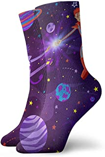 Vince Camu, Bowie y Prince Meet Again Crazy Classic Crew Calcetines Transpirable Tobillo Running Calcetines de senderismo Sport Athletic Calcetines 30CM