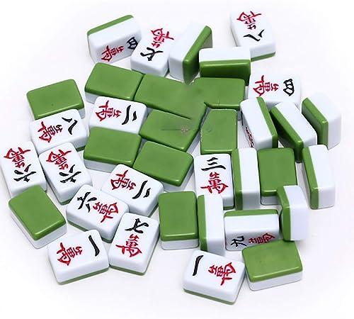 a precios asequibles LIULAOHAN Mahjong Set, Boutique Travel Travel Travel Portable 144 Mahjong Tradicional, Adecuado para reuniones Familiares   Regalos de Regalo   pasatiempo de Viaje ( Color   verde )  mejor reputación