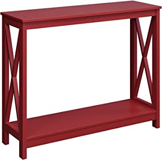 Convenience Concepts Oxford Console Table, Cranberry Red