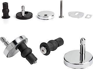 Yizhet toiletzitting scharnier van roestvrij zink legering - bevestiging voor wc-bril deksel universele accessoires Schrauben für Toilettensitz