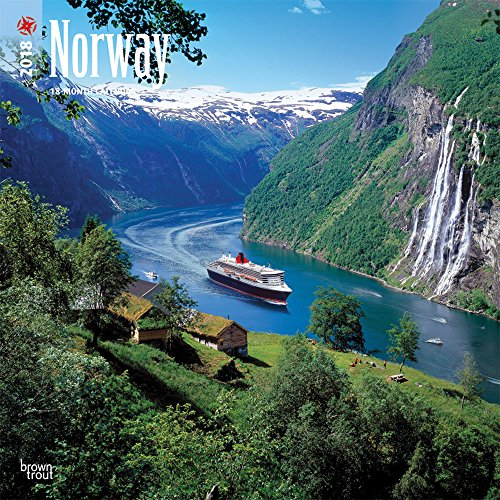 Norway 2018 12 x 12 Inch Monthly Square Wall Calendar, Travel Europe Scandinavia