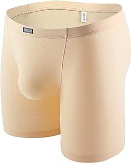 iKingsky Men's Long Leg Boxer No Ride Up Trunk Seamless Front Underwear Stretch Mens Under Panties
