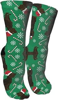 MuCunTuaZa Boykin Spaniel Christmas Dog Compression Socks Knee High Socks for Women & Men - Best Sports, Nursing, Travel & Flight Socks