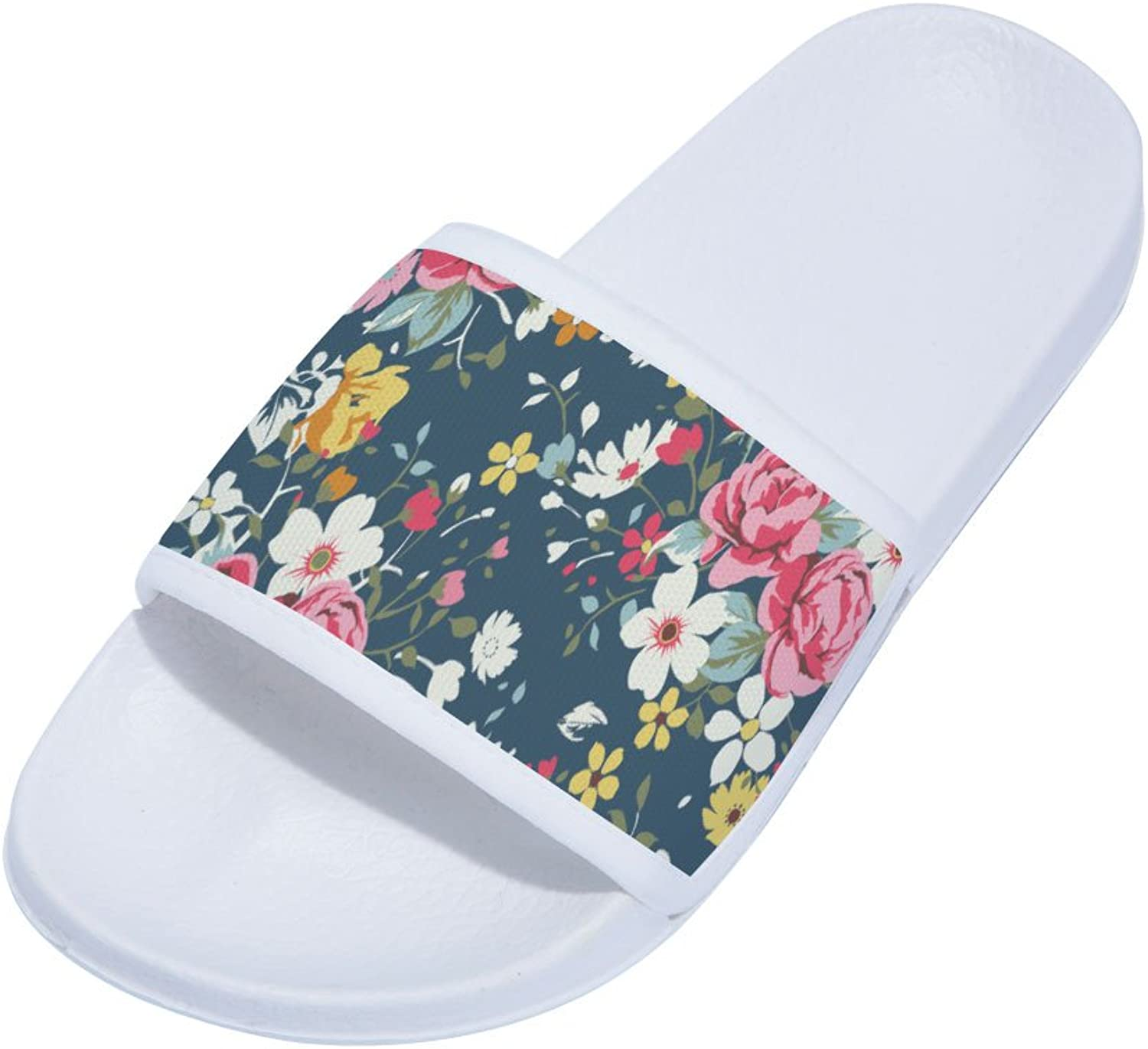 Buteri Flowers Slippers Quick-Drying Non-Slip Slippers for Womens