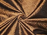 Brokat-Stoff kupfer/bronzefarben & schwarz, 111,8 cm Hobby,