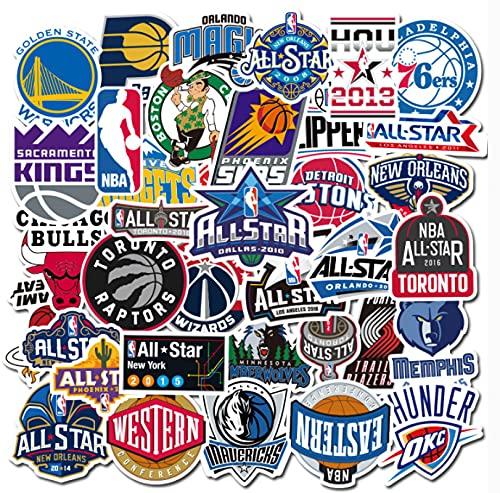 GSNY Pegatinas para Maletas con Logotipo del Equipo de Baloncesto, Pegatinas Personalizadas para Maletas, Pegatinas para monopatín para Ordenador portátil, Impermeables, 50 Hojas
