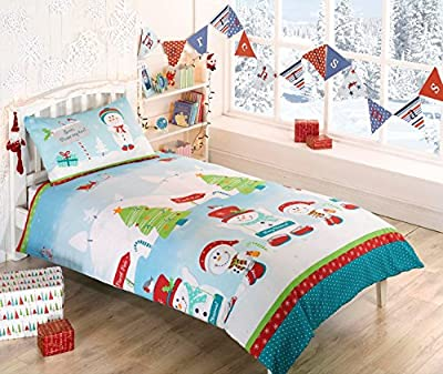 North Pole Snowman Double Duvet Cover