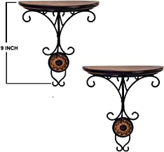 Vian Combo/Pair Of Wooden Wall Bracket Wall Hanging For Living Room
