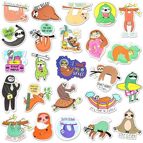 Waterproof Vinyl Sloth Laptop Water Bottle Folders Stickers Pack (50 Pcs)