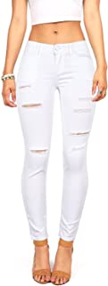Women's Juniors Mid-Rise Skinny Jegging Jeans w Distressing