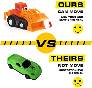 Construction Vehicles Fun Pull Back Car Toy for Boys Toddler Bulldozer Excavator Dumper Truck for Children Toddlers M...
