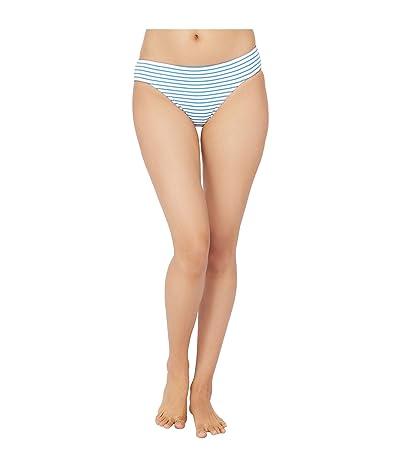 LAUREN Ralph Lauren Bengal Stripe Hipster Bikini Swimsuit Bottoms (Blue/White) Women