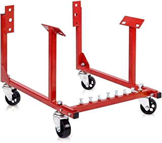 Goplus Chevy Engine Cradle Stand 1000lb Dolly Chrysler Chevrolet Wheels