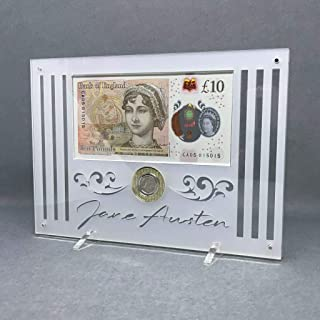 Jane Austen billete de £ 10 y moneda de £ 2