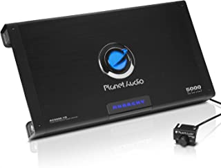 Planet Audio AC5000.1D Class D Car Amplifier - 5000 Watts Max Power, 1 Ohm Stable, Monoblock, Mosfet Power Supply, Remote Subwoofer Control
