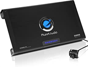 Planet Audio AC5000.1D Class D Car Amplifier – 5000 Watts Max Power, 1 Ohm Stable,..